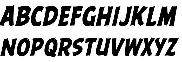 ABFlockHeadline Bold Italic Шрифта строчной