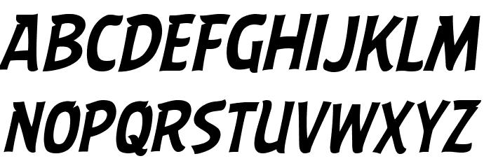 ABFlockHeadline Italic Шрифта ВЕРХНИЙ