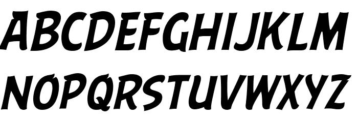 ABFlockHeadline Italic Шрифта строчной
