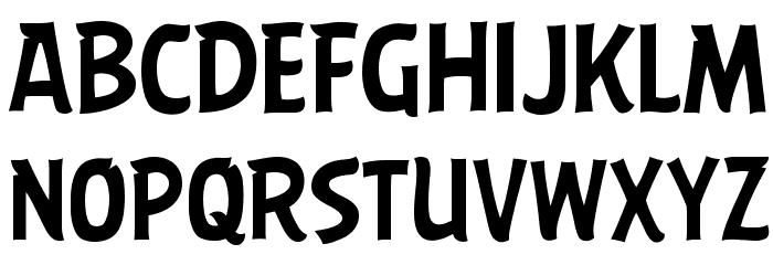 ABFlockHeadline Regular Шрифта ВЕРХНИЙ