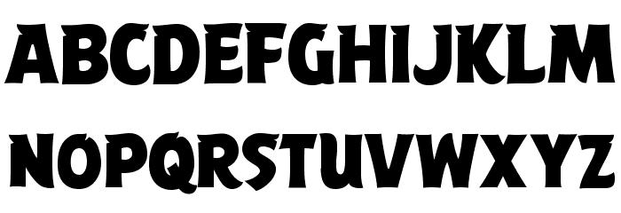 ABFlockPoster Regular Шрифта ВЕРХНИЙ