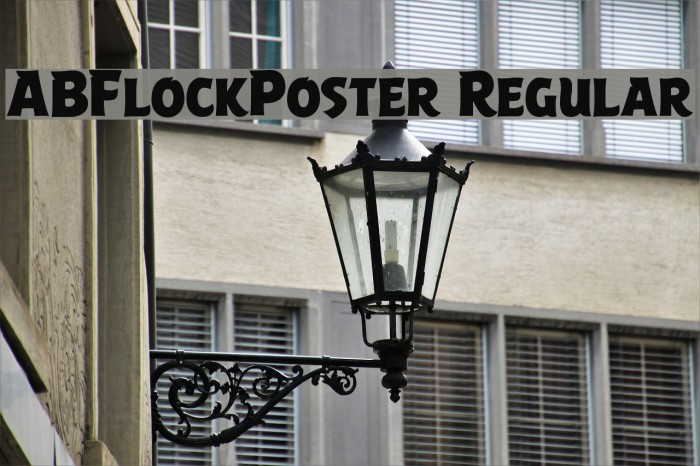 ABFlockPoster Regular Font examples