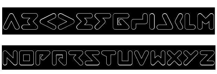 ABSTRASCTIK- Hollow फ़ॉन्ट अपरकेस