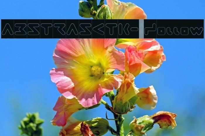 ABSTRASCTIK- Hollow फ़ॉन्ट examples