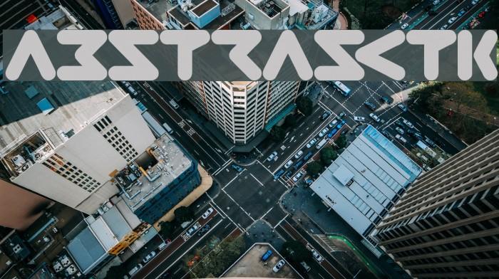 ABSTRASCTIK फ़ॉन्ट examples