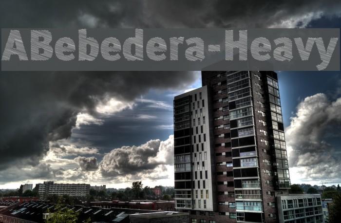 ABebedera-Heavy Шрифта examples