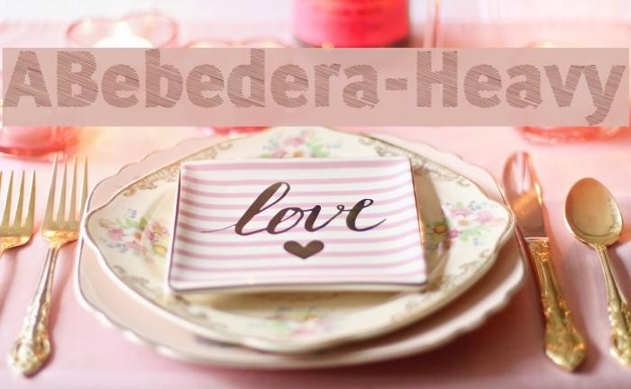 ABebedera-Heavy Font examples