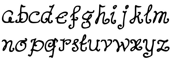 AButterflyOnaDaffodil Font Litere mici