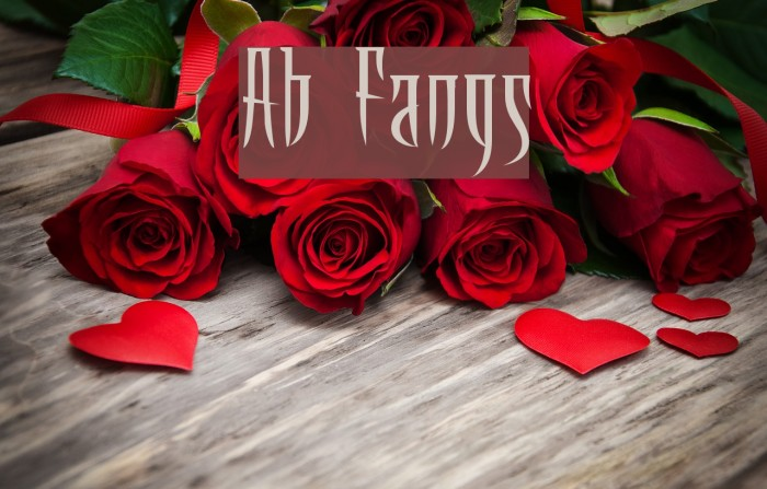 Ab Fangs Font examples