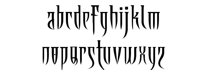Ab Fangs Font LOWERCASE
