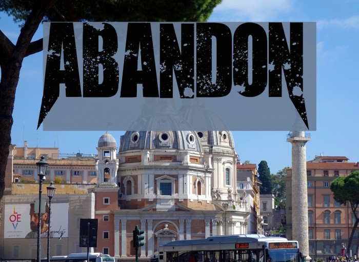AbandoN Font examples