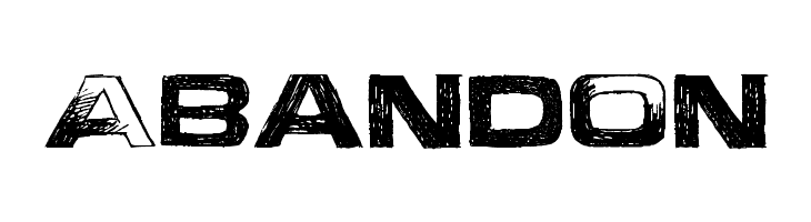 Abandon  Free Fonts Download