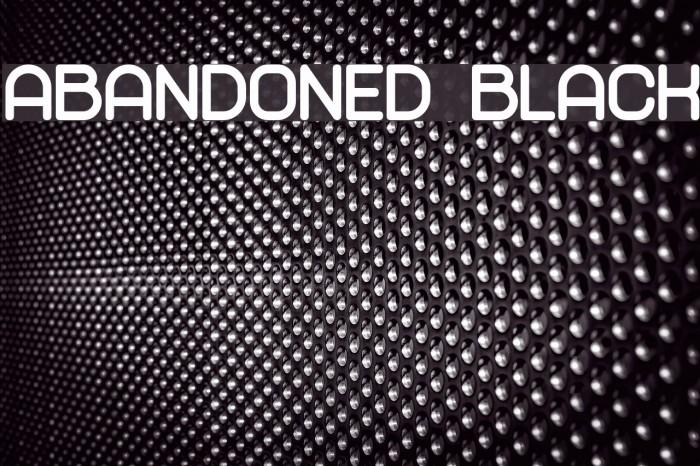 Abandoned Black لخطوط تنزيل examples