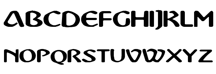 Abbey Medium Extended Font UPPERCASE