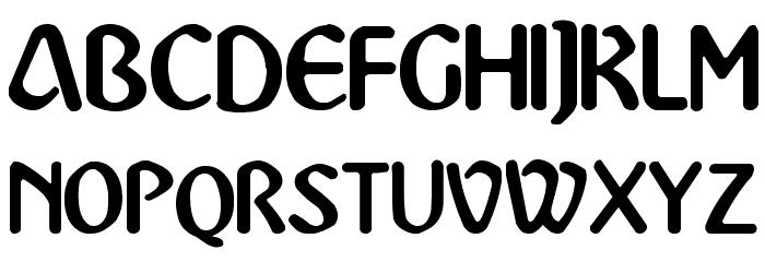 Abbey-Medium Font UPPERCASE