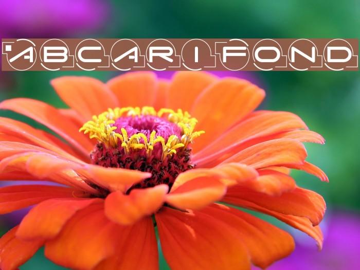 AbcariFond Font examples