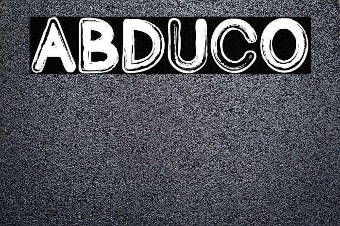 Abduco फ़ॉन्ट examples