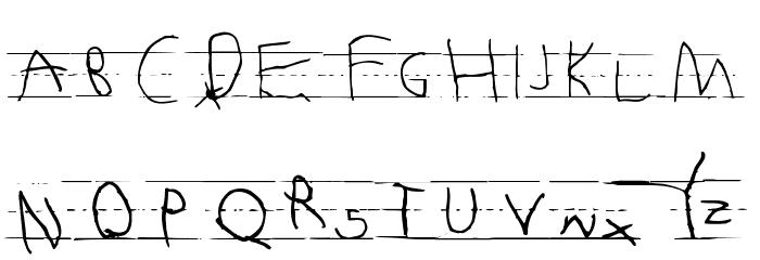 Abecedarian Font Litere mari
