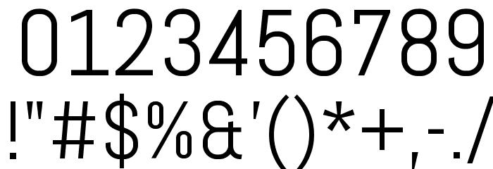 Abel-Regular Font OTHER CHARS