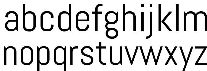 Abel-Regular Font LOWERCASE