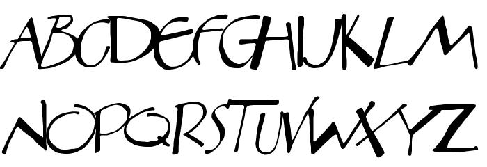 Aberration Font UPPERCASE