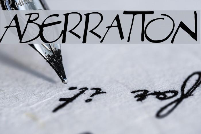 Aberration Font examples