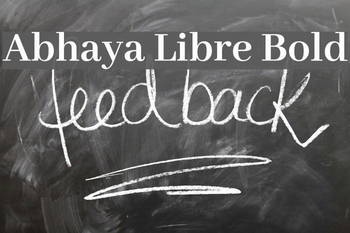 Abhaya Libre Bold फ़ॉन्ट examples
