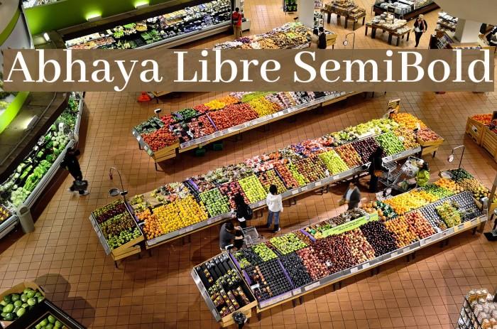 Abhaya Libre SemiBold Font examples