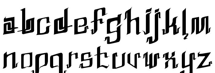 Abhinaya Regular Шрифта строчной