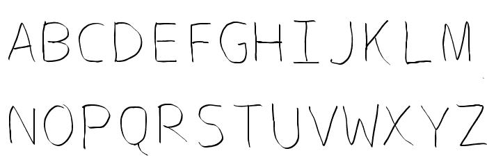 Abirhand one Schriftart Groß