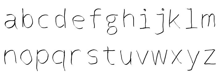 Abirhand one Schriftart Kleinbuchstaben