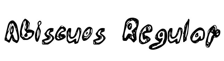 Abiscuos Regular  नि: शुल्क फ़ॉन्ट्स डाउनलोड