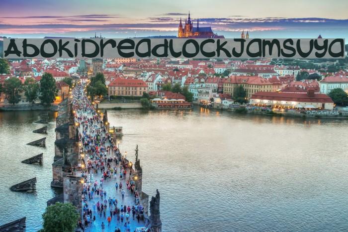 AbokiDreadlockJamSuya फ़ॉन्ट examples