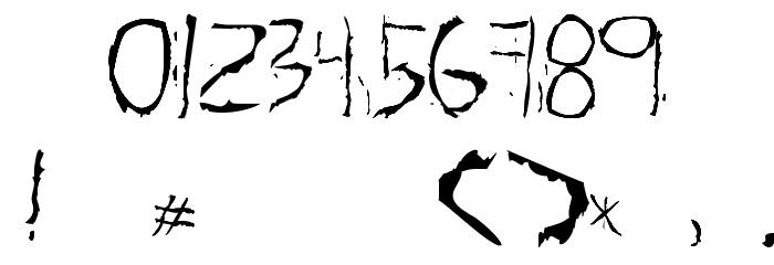 About Dead Font Alte caractere