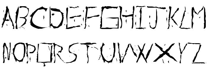 About Dead Font Litere mari