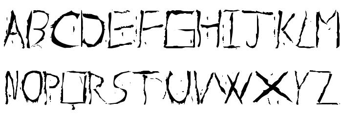 About Dead Font Litere mici