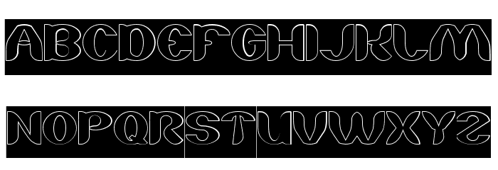 About you-Hollow-Inverse Font UPPERCASE