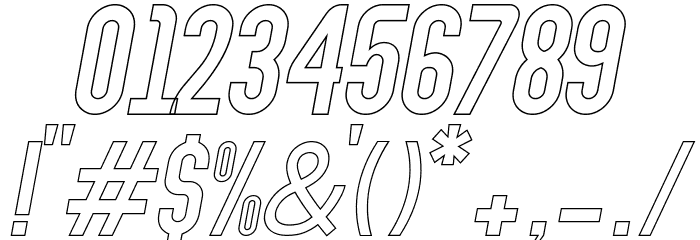Abraham Outline Italic Outline Italic Шрифта ДРУГИЕ символов