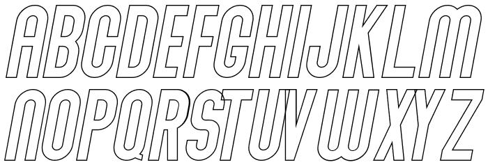 Abraham Outline Italic Outline Italic Шрифта ВЕРХНИЙ