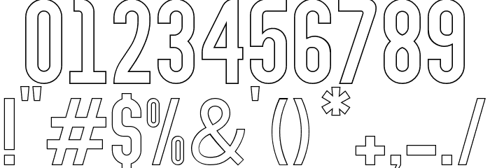 Abraham Outline Outline Шрифта ДРУГИЕ символов