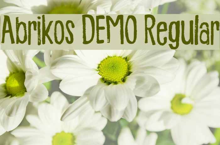 Abrikos DEMO Regular Fonte examples