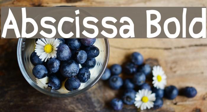 Abscissa Bold फ़ॉन्ट examples