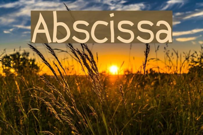 Abscissa फ़ॉन्ट examples