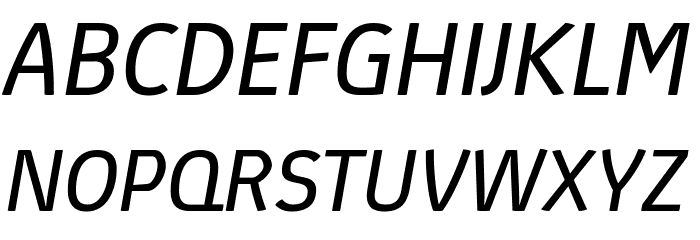 Absolut Pro Book Italic reduced Font UPPERCASE