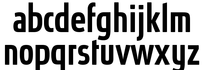 Absolut Pro Condensed Medium reduced Font LOWERCASE