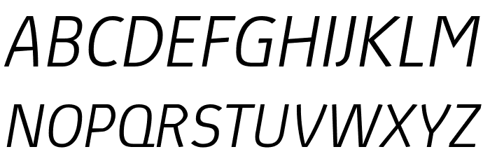 Absolut Pro Light Italic reduced Шрифта ВЕРХНИЙ
