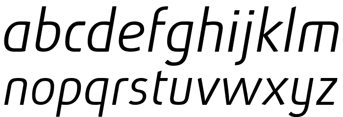 Absolut Pro Light Italic reduced Шрифта строчной
