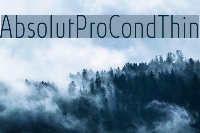 AbsolutProCond-Thin Font examples