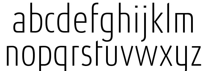 AbsolutProCond-Thin Font LOWERCASE