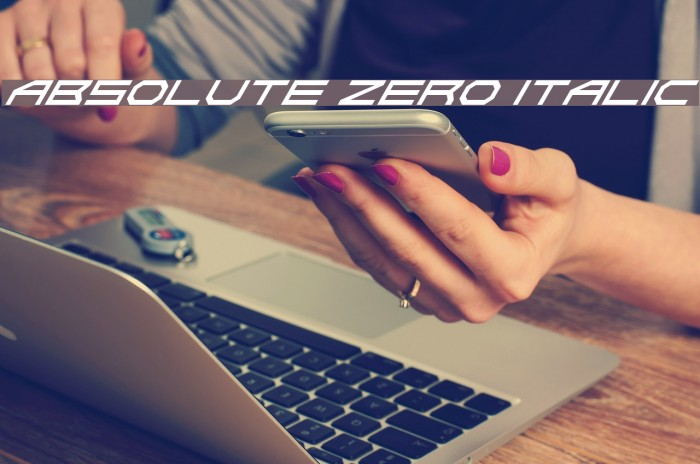 Absolute Zero Italic Fonte examples